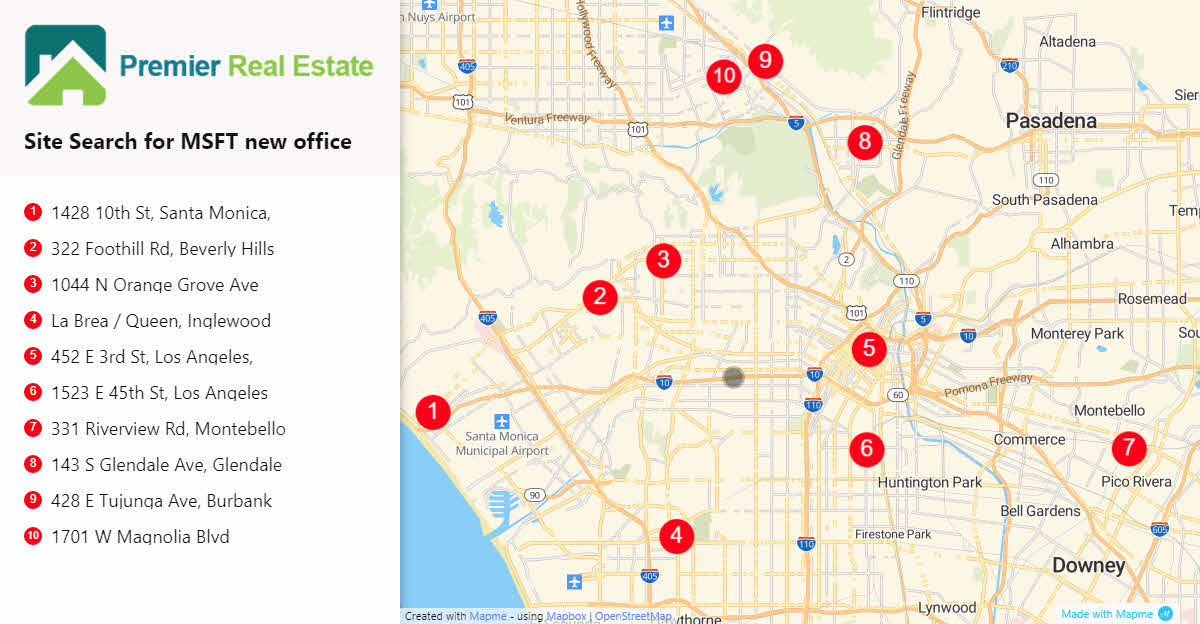 real estate site search print example